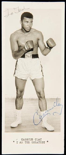 An early Cassius Clay signature, a 1963 publicity