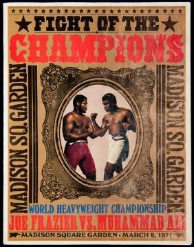 Official programme for the Muhammad Ali v Joe Frazier