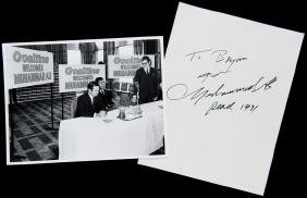 Muhammad Ali autograph collected at the Ovaltine
