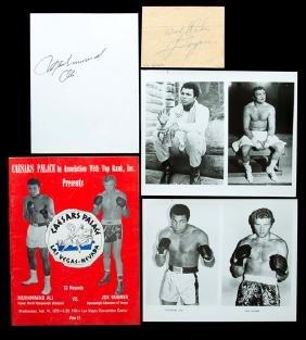 Muhammad Ali & Joe Bugner autographs, superb period Ali