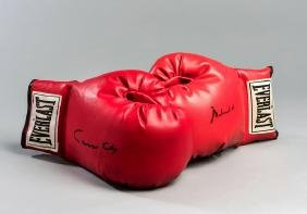 Muhammad Ali/Cassius Clay signed boxing gloves, a pair