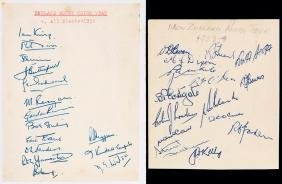 The autographs of the England & New Zealand All Blacks
