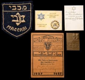 A collection of Jewish sports medals and memorabilia,