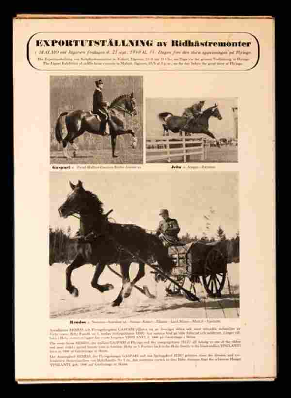 Official Report of the Stockholm 1956 Equestrian