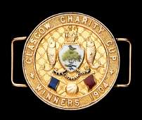 9ct. gold & enamel Glasgow Charity Cup medal awarded to