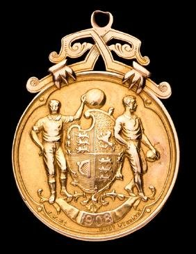 A 1908 F.A. Cup winner's medal awarded to Billy