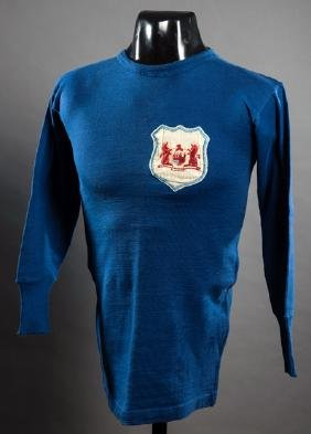 The blue Bristol City shirt worn by Bob Hardy in the