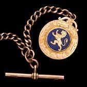 15ct. gold & enamel Scottish international football