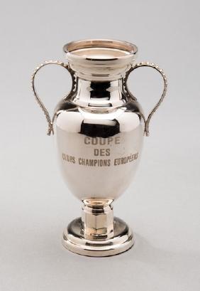 An official miniature replica of European Cup trophy