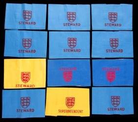 Twelve Football Association Wembley Stadium steward's
