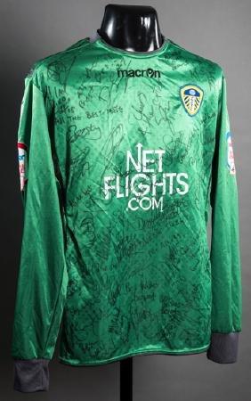 Jason Brown: a team-signed green Leeds United No.30