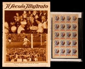 An Italian magazine with illustrated coverage of the