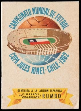 Souvenir tournament programme for the 1962 World Cup in