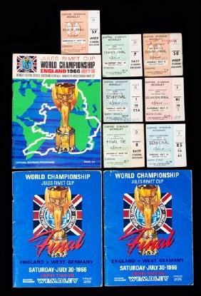 1966 World Cup programmes and tickets, two for the
