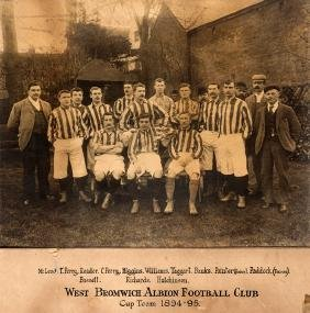 An official photograph of the West Bromwich Albion Cup