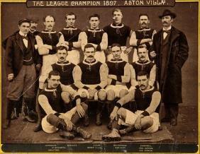A commemorative photographic plate of the Aston Villa