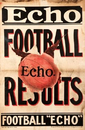 A vintage [London] Football Echo news-stand poster