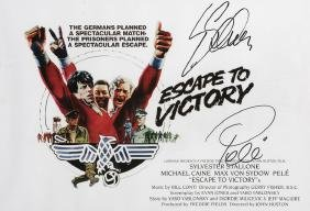 Pele and Sylvester Stallone Escape To Victory movie