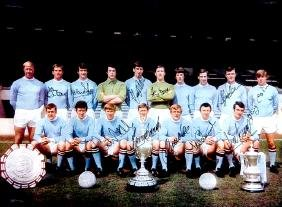 Fully-signed colour photograph of the Manchester City's