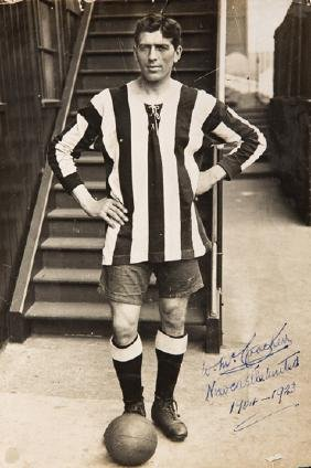 Signed portrait photograph of Newcastle United's Billy