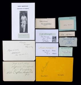 A collection of autographs of notable early