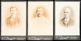 Three Sheffield Wednesday cabinet card photographs of
