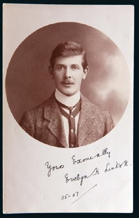 Portrait postcard signed by the footballer Evelyn