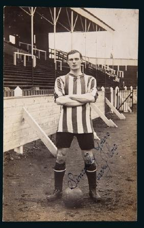 Portrait postcard signed by Harry Low the Sunderland