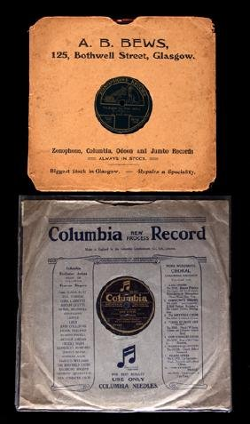 A 78rpm record of the community singing at the Arsenal