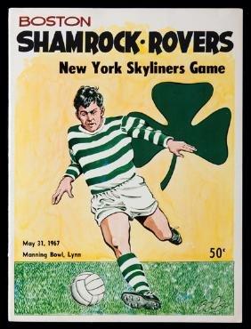Shamrock Rovers v New York Skyliners programme played
