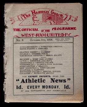 An early ''Hammers' Gazette'' West Ham United programme