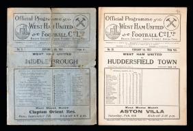 West Ham United v Middlesbrough programme 5th September