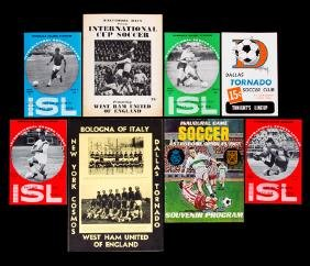 Seven programmes for West Ham United matches played n