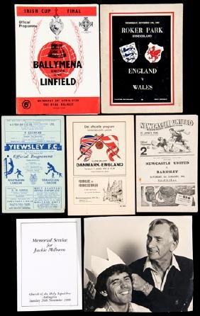 A collection of programmes and memorabilia relating to