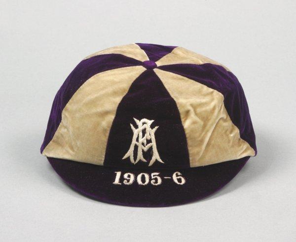 9: A purple & white F.A. international trial cap season
