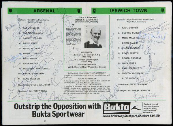 296: Three autographed programmes, a 1978 F.A. Cup fina