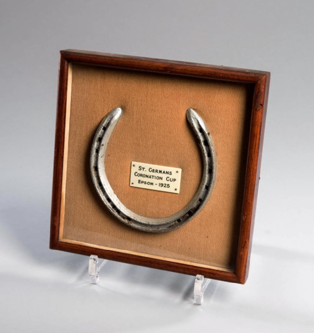 A racing plate worn by ''St Germans'' in the 1925