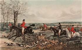 After Henry Alken senior (1785-1851) FOUR FOX HUNTING