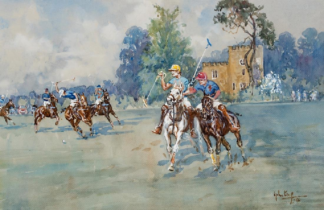 John Gregory King (1929-2014) POLO AT CIRENCESTER PARK