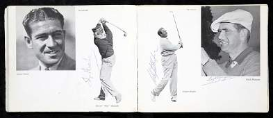 Autographed 1949 Ryder Cup programme, the interior