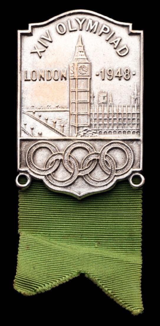 Rare London 1948 Olympic Games official's badge for