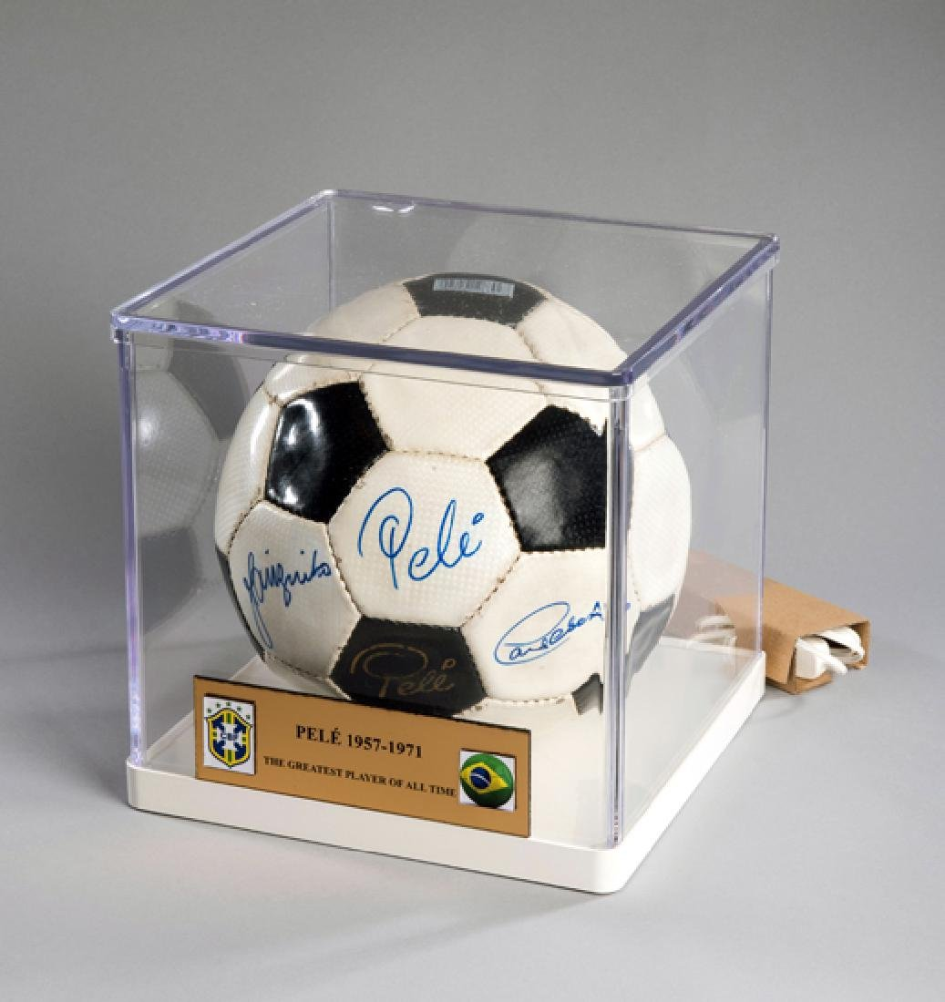 Pele-branded football signed by Pele and his 1970 World