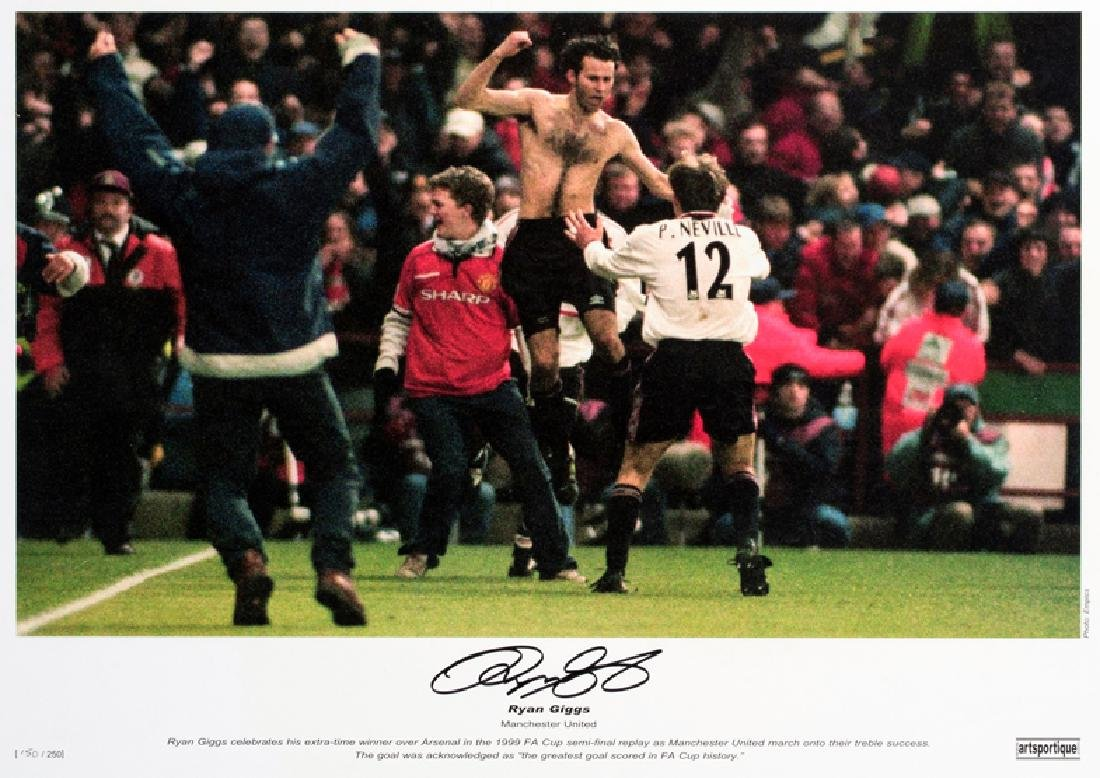 A multi-signed Manchester United 1999 Treble Winners - 2