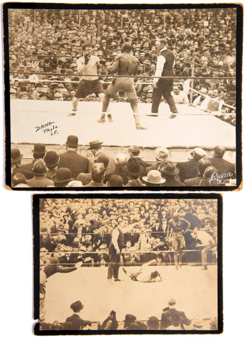 Two original period photographs of the Jack Johnson v