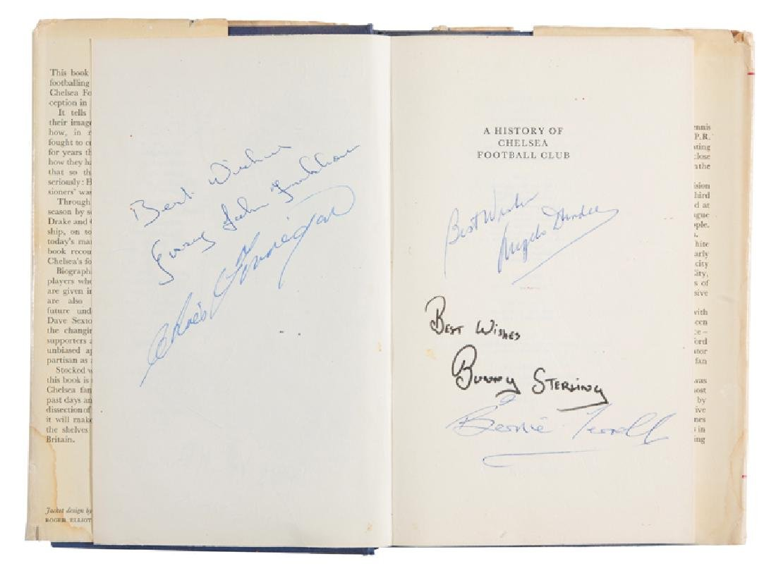 Chelsea football book signed by boxers, Ralph Finn's A