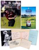 A collection of 31 autographs of golfers signed