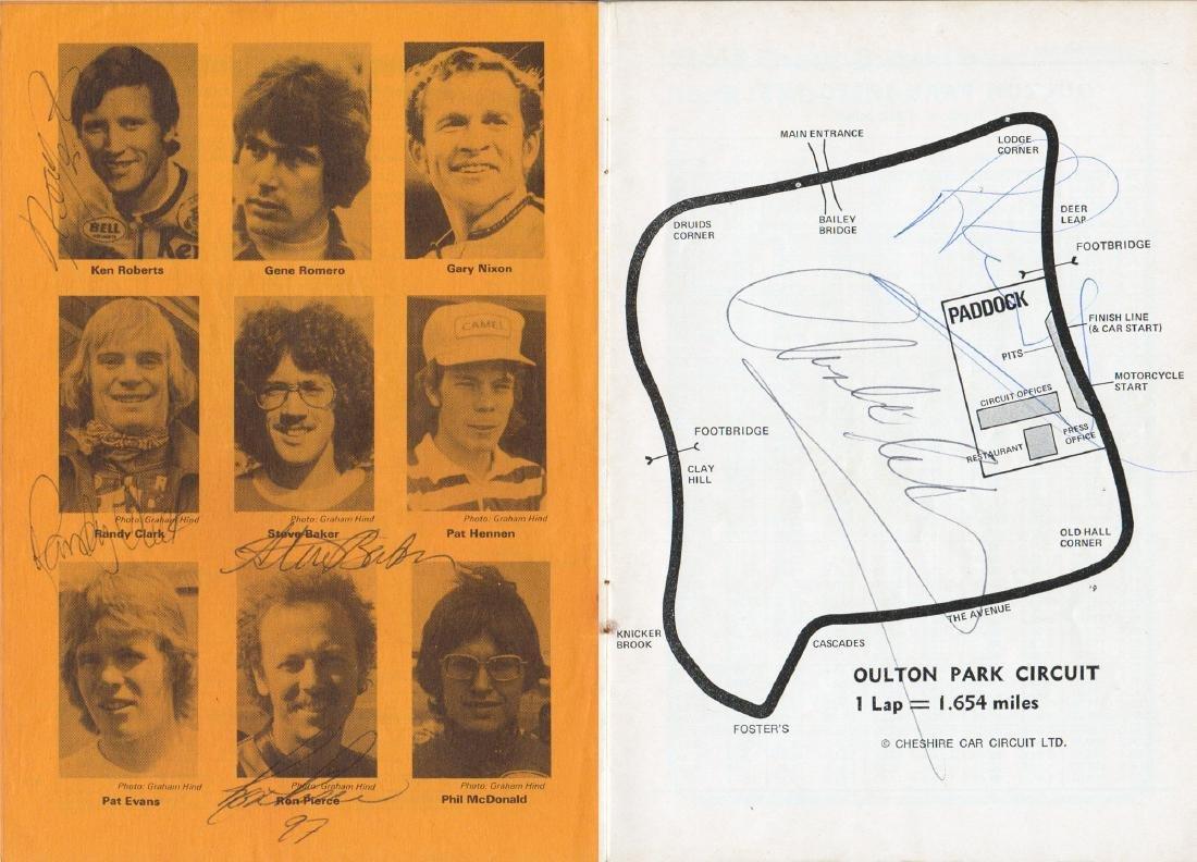 1976 multi-signed Transatlantic Challenge Oulton Park - 2