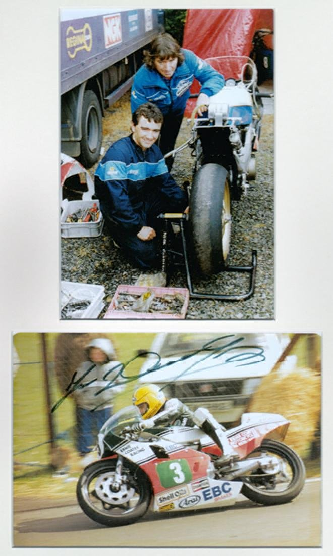Joey Dunlop signed Ulster Grand Prix photo and other
