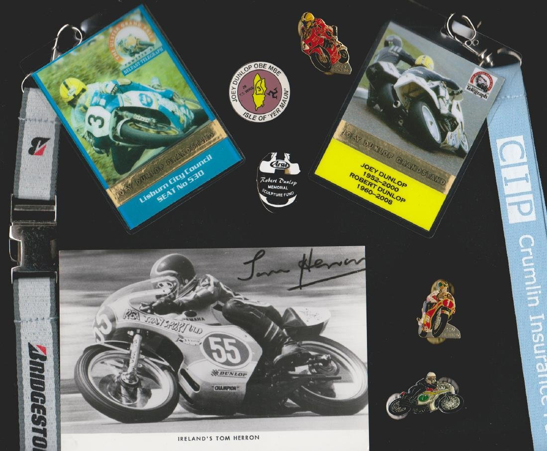 Joey Dunlop signed Ulster Grand Prix photo and other - 2