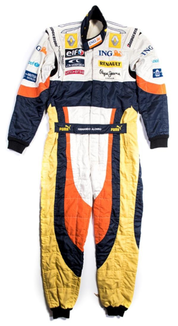 Fernando Alonso signed and worn 2008 Renault Formula 1